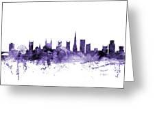 Bristol England Skyline Greeting Card