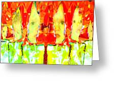 6 Candles Of Christmas Greeting Card