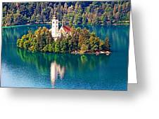 Church Of The Assumption - Lake Bled, Slovenia Greeting Card