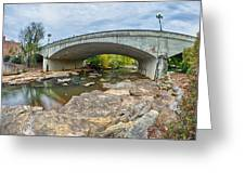 Downtown Of Greenville South Carolina Around Falls Park Greeting Card