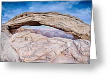 famous Mesa Arch in Canyonlands National Park Utah  USA Greeting Card