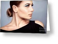Fashion Woman Portrait Greeting Card