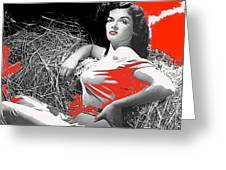 Film Homage Jane Russell The Outlaw 1943 Publicity Photo Photographer George Hurrell 2012 Greeting Card