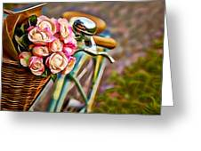 Flower Bike Collection Greeting Card