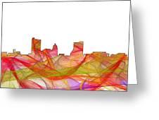 Fort Wayne Indiana Skyline Greeting Card
