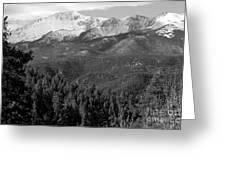 Fresh Snow On Pikes Peak Greeting Card