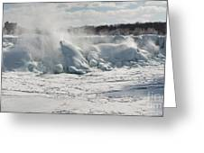 Frozen Niagara Falls Greeting Card