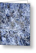 Hamburg Germany City Map Greeting Card