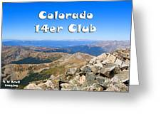 Hikers And Scenery On Mount Yale Colorado Greeting Card
