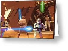 Jedi Star Wars Poster Greeting Card