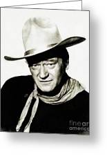 John Wayne, Vintage Actor By Js Greeting Card
