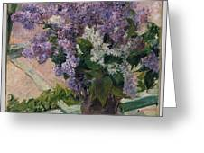 Lilacs In A Window Greeting Card