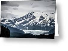 Mountain Range Scenes In June Around Juneau Alaska Greeting Card