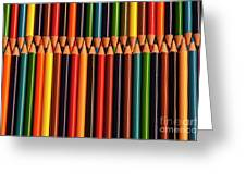 Multicolored Pencils  Greeting Card