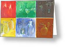 6 Panes Of Existence Greeting Card