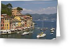 Portofino In The Italian Riviera In Liguria Italy Greeting Card