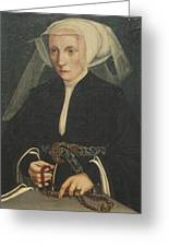Portrait Of A Lady Holding A Rosary Greeting Card