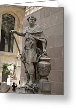 Roman Citizen In Louvre Greeting Card
