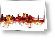 Sacramento California Skyline Greeting Card