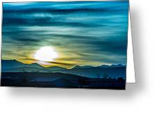 Sunrise Over Colorado Rocky Mountains Greeting Card