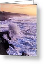 Sunset In The Portuguese Coast Greeting Card