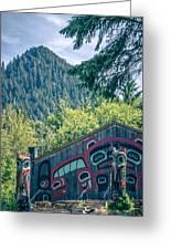 Totems Art And Carvings At Saxman Village In Ketchikan Alaska Greeting Card