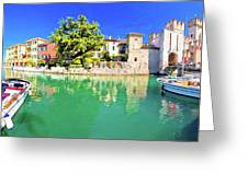 Town Of Sirmione Entrance Walls View Greeting Card
