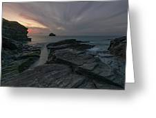 Trebarwith Strand - Cornwall Greeting Card