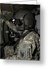 Uh-60 Black Hawk Crew Chief Greeting Card