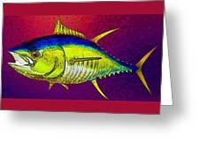 Underwater. Fish. Greeting Card