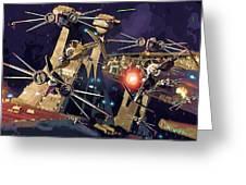 Video Star Wars Poster Greeting Card