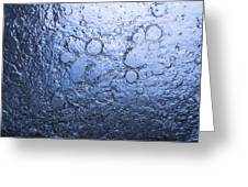 Water Abstraction - Blue Greeting Card