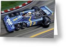 6 Wheel Tyrrell P34 F-1 Car Greeting Card