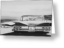 60 Impala Lowrider Greeting Card