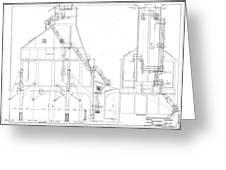 600 Ton Coaling Tower Plans Greeting Card