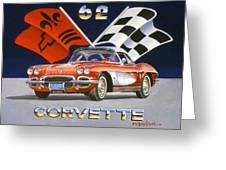 62 Vette Greeting Card