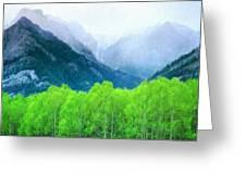 Nature Work Landscape Greeting Card