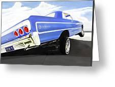 64 Impala Lowrider Greeting Card