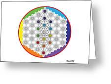 64 Tetra Chakra Activation Grid Greeting Card