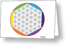 64 Tetra Flower Of Life Greeting Card