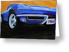 66 Corvette - Blue Greeting Card