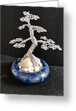 #66 Silver Lining Wire Tree Sculpture Greeting Card