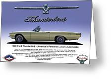 '66 Thunderbird Convertible Greeting Card