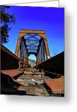 6696 Railroad Bridge Greeting Card