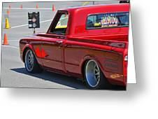 '67 Chevy C10 Awaits Green Light Greeting Card