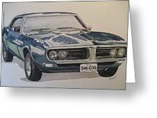 68 Firebird Sprint Greeting Card