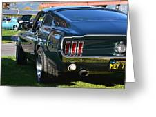67 Mustang Fastback Greeting Card