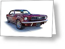 69 Ford Mustang Greeting Card by Mamie Thornbrue