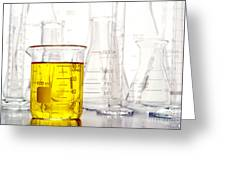 Laboratory Equipment In Science Research Lab Greeting Card