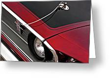 69 Mustang Hood Pin And Grille Greeting Card